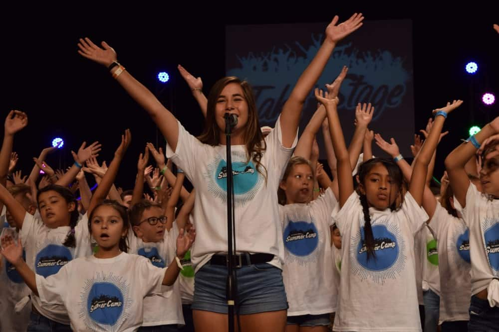 SUMMER CAMPERS TAKE THE STAGE