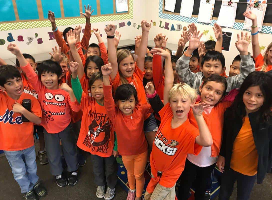 COMMUNITY TURNS ORANGE IN SUPPORT OF  IRVINE SCHOOLS