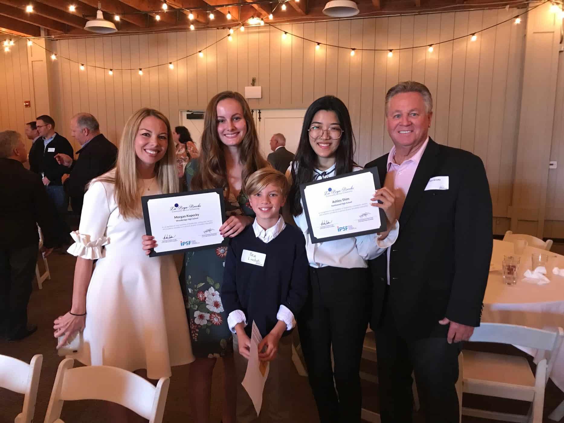 Irvine Students Awarded Lee Bryn Brooks Community Service Scholarship